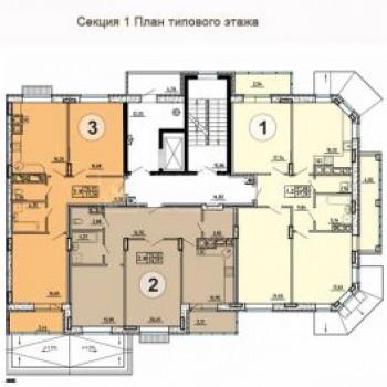 ЖК Свобода (Тула) – планировка №3