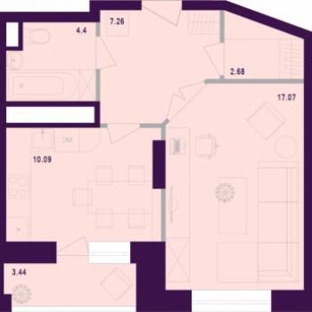ЖК Космос (Тула) – планировка №5
