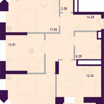 ЖК Космос (Тула) – планировка №3