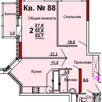 ЖК Левобережный (Тула) – планировка №3
