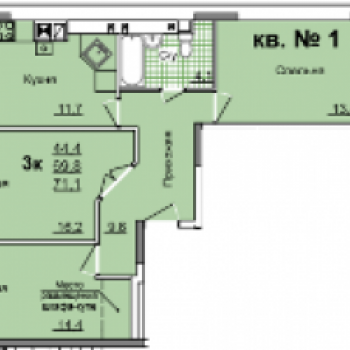 ЖК Левобережный (Тула) – планировка №2