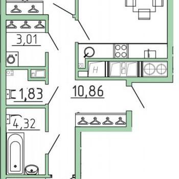 Смарт квартал на Октябрьской (Тула) – планировка №9