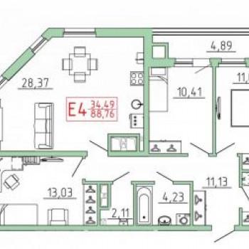 Смарт квартал на Октябрьской (Тула) – планировка №14