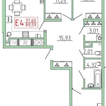 Смарт квартал на Октябрьской (Тула) – планировка №15