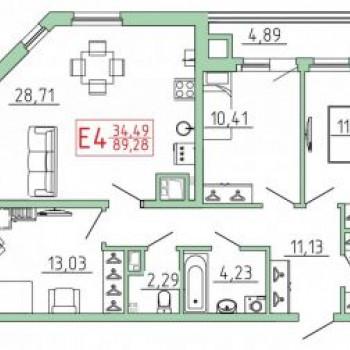 Смарт квартал на Октябрьской (Тула) – планировка №12