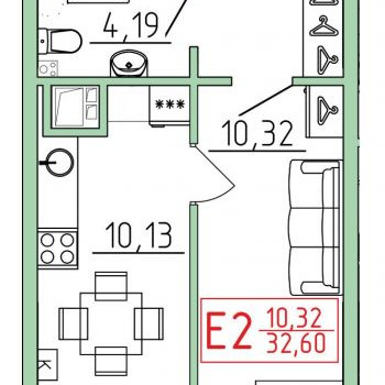 Смарт квартал на Октябрьской (Тула) – планировка №4