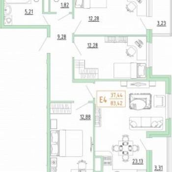Смарт дом в Пролетарском районе (Тула) – планировка №1