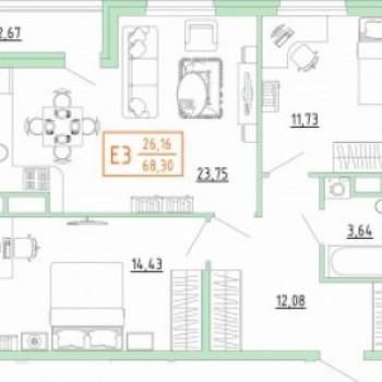 Смарт дом в Пролетарском районе (Тула) – планировка №8