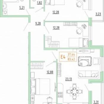 Смарт дом в Пролетарском районе (Тула) – планировка №3