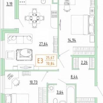 Смарт дом в Пролетарском районе (Тула) – планировка №10
