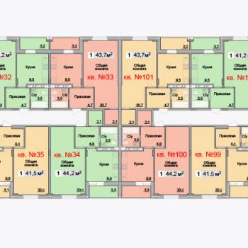 ЖК Айсберг (Тула) – планировка №6
