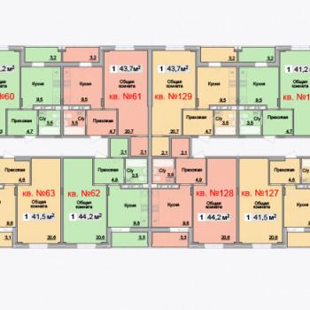 ЖК Айсберг (Тула) – планировка №2