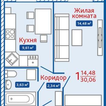 ЖК Северная Мыза (Тула) – планировка №17