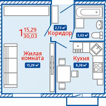 ЖК Северная Мыза (Тула) – планировка №18