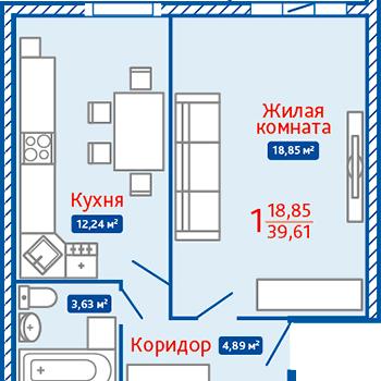 ЖК Северная Мыза (Тула) – планировка №7