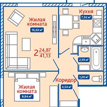 ЖК Северная Мыза (Тула) – планировка №6