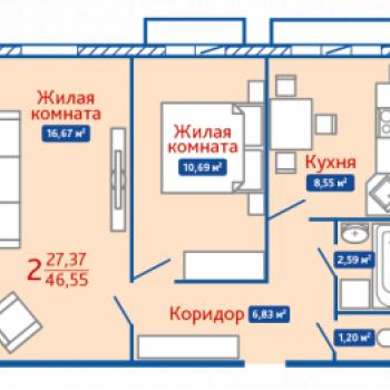 ЖК Северная Мыза (Тула) – планировка №5