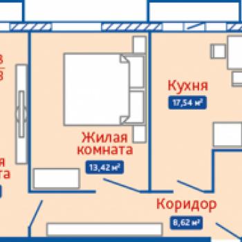 ЖК Северная Мыза (Тула) – планировка №3