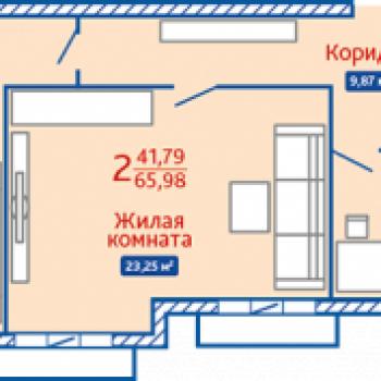 ЖК Северная Мыза (Тула) – планировка №2
