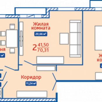 ЖК Северная Мыза (Тула) – планировка №1