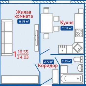 ЖК Северная Мыза (Тула) – планировка №12