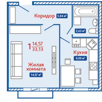 ЖК Северная Мыза (Тула) – планировка №13