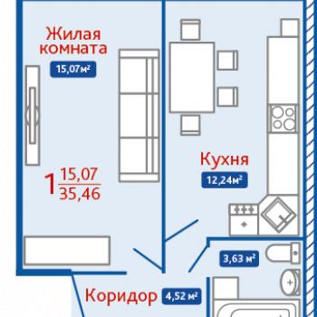 ЖК Северная Мыза (Тула) – планировка №10
