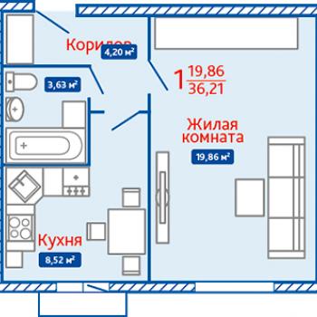 ЖК Северная Мыза (Тула) – планировка №9