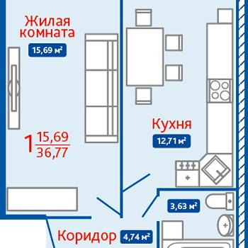 ЖК Северная Мыза (Тула) – планировка №8