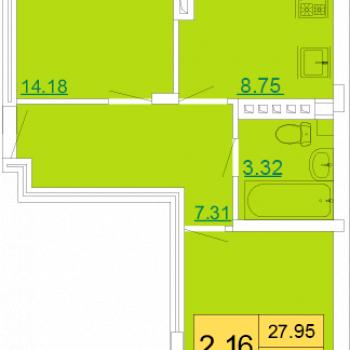 ЖК Петровский квартал (Тула) – планировка №7