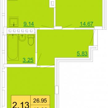 ЖК Петровский квартал (Тула) – планировка №3