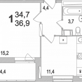 ЖК Московский (Тула) – планировка №17
