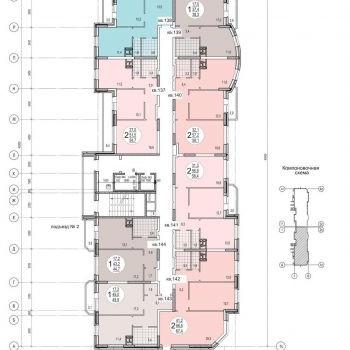 ЖК Кристалл (Тула) – планировка №1