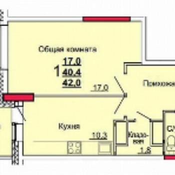 ЖК Зеленстрой 2 (Тула) – планировка №1