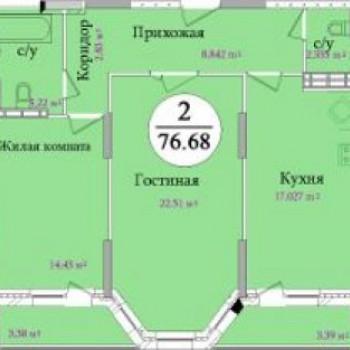 ЖК Первомайский (Тула) – планировка №4
