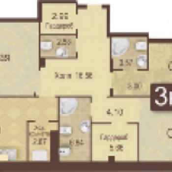 ЖК Аристократ (Тюмень) – планировка №3