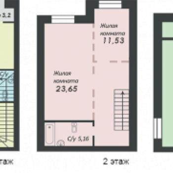 ЖК Уютный квартал (Тюмень) – планировка №1