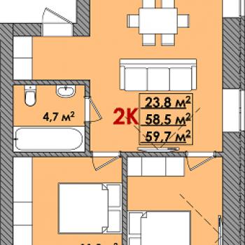 ЖК Олимпия (Тюмень) – планировка №3