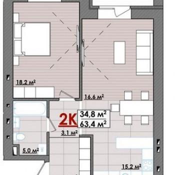 ЖК Олимпия (Тюмень) – планировка №2
