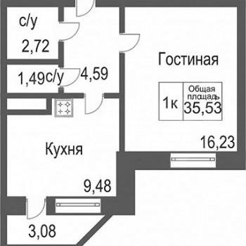 ЖК Северное сияние (Тюмень) – планировка №4