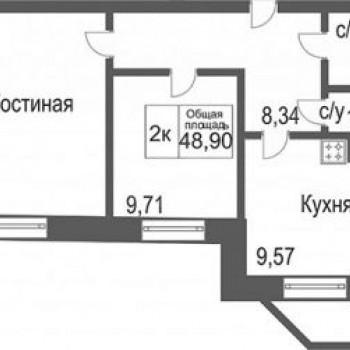 ЖК Северное сияние (Тюмень) – планировка №2