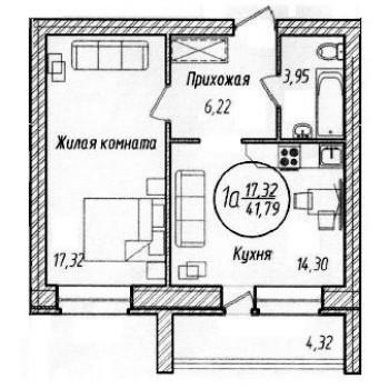 ЖК Дуэт (Тюмень) – планировка №2