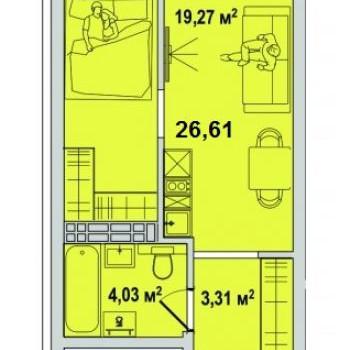 ЖК Тесла парк (Тюмень) – планировка №8