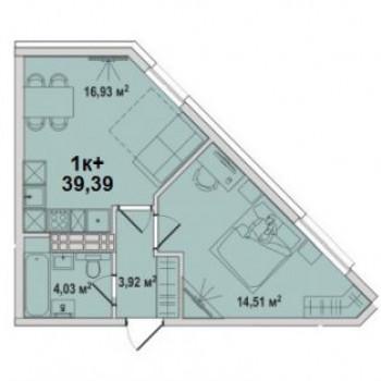 ЖК Тесла парк (Тюмень) – планировка №6