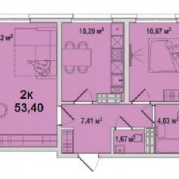 ЖК Тесла парк (Тюмень) – планировка №5