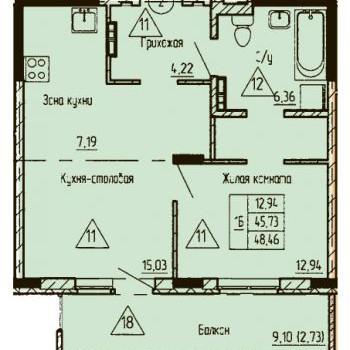 ЖК Финский залив (Тюмень) – планировка №6