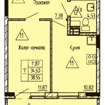 ЖК Финский залив (Тюмень) – планировка №8