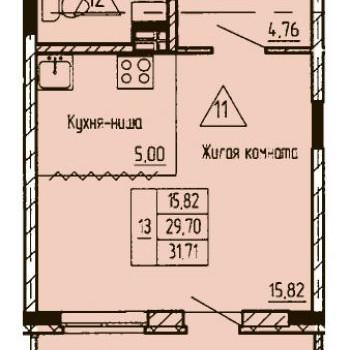 ЖК Финский залив (Тюмень) – планировка №10