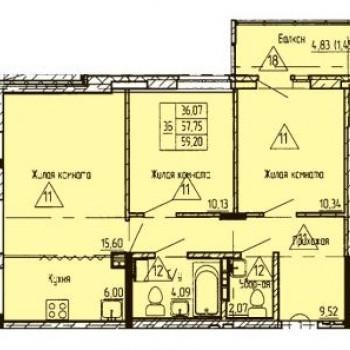 ЖК Финский залив (Тюмень) – планировка №2