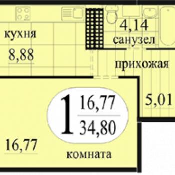ЖК Новоантипинский (Тюмень) – планировка №2